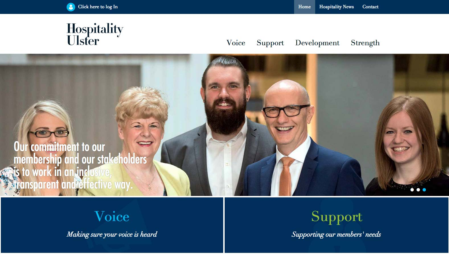 New Web Design For Hospitality Ulster