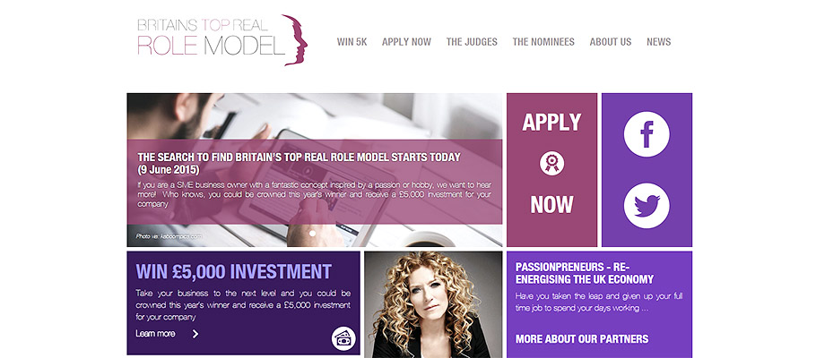 Britains Top Real Role Model website design