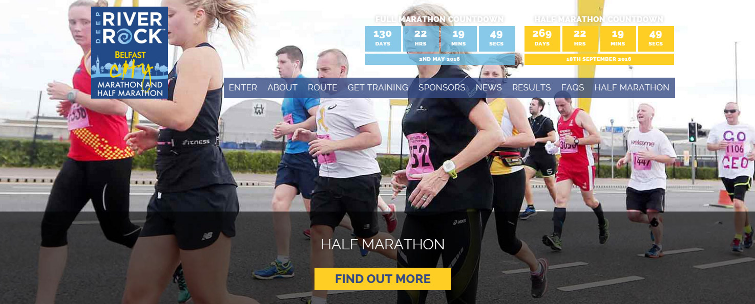 Belfast Half Marathon Website Redesign