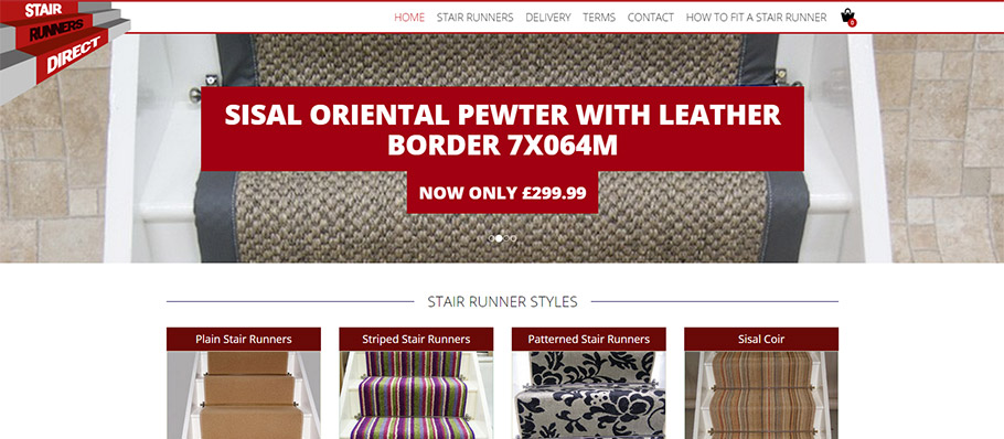 Stair Runners Direct website redesign